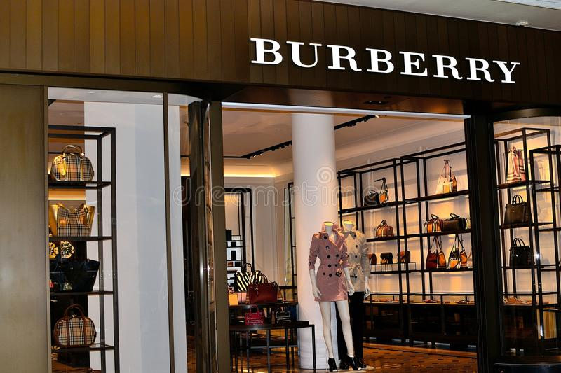 burberry store in Schiphol airport, Holland stock photography