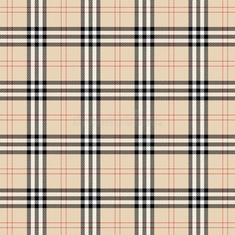 Burberryplaid Schotse kooiachtergrond vector illustratie