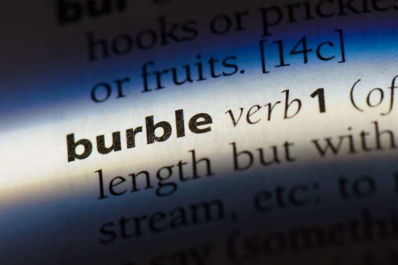 burble royalty-vrije stock afbeelding