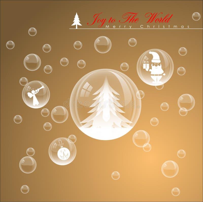 Burbuja abstracta de la Navidad stock de ilustración