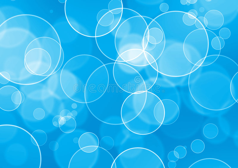 Burbuja abstracta del agua stock de ilustración