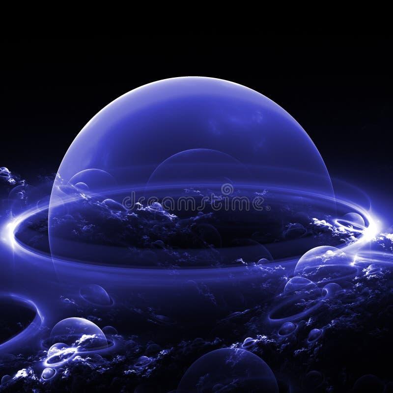 Burbuja azul stock de ilustración