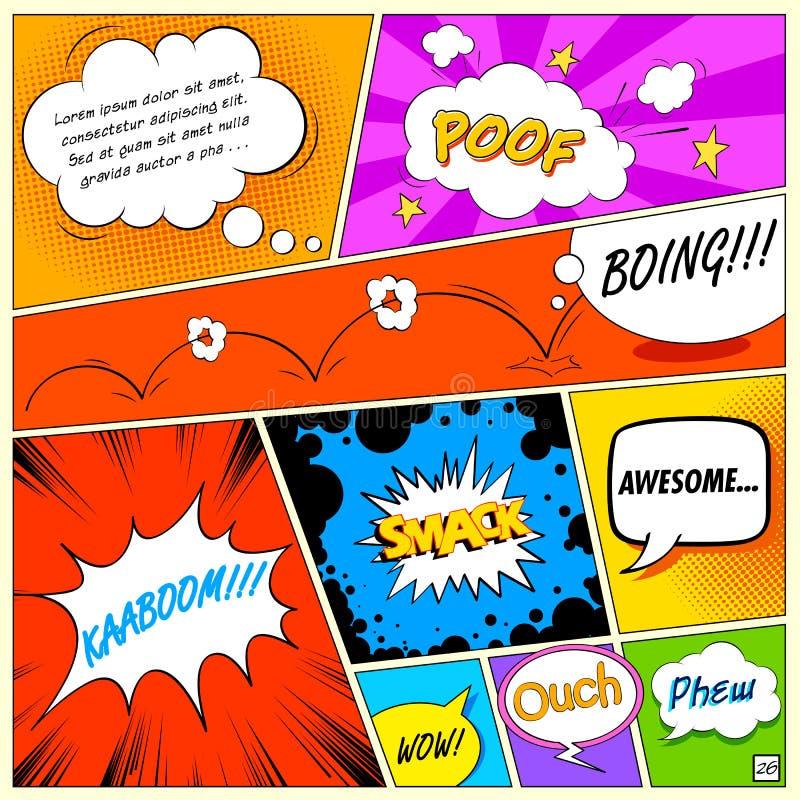 Burbuja cómica del discurso ilustración del vector