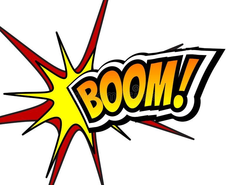 Burbuja cómica del discurso del auge, historieta Ejemplo del vector del fondo del arte pop stock de ilustración