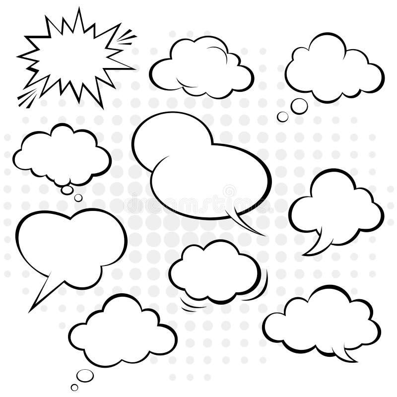 Burbuja cómica del discurso. Vector. ilustración del vector