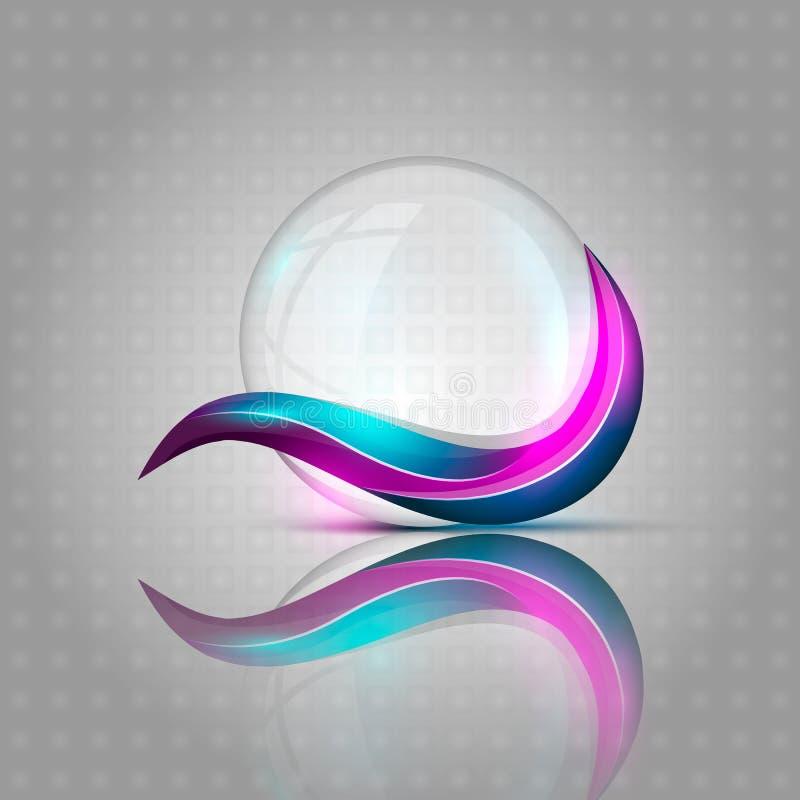 Burbuja clara con las líneas coloridas libre illustration