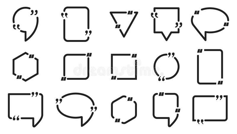 Burbuja con el texto y la cita libre illustration