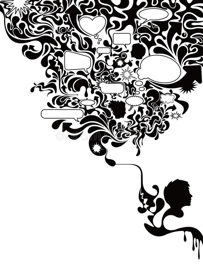 Burbuja de charla 3 libre illustration