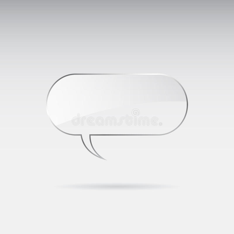Burbuja de cristal del discurso stock de ilustración