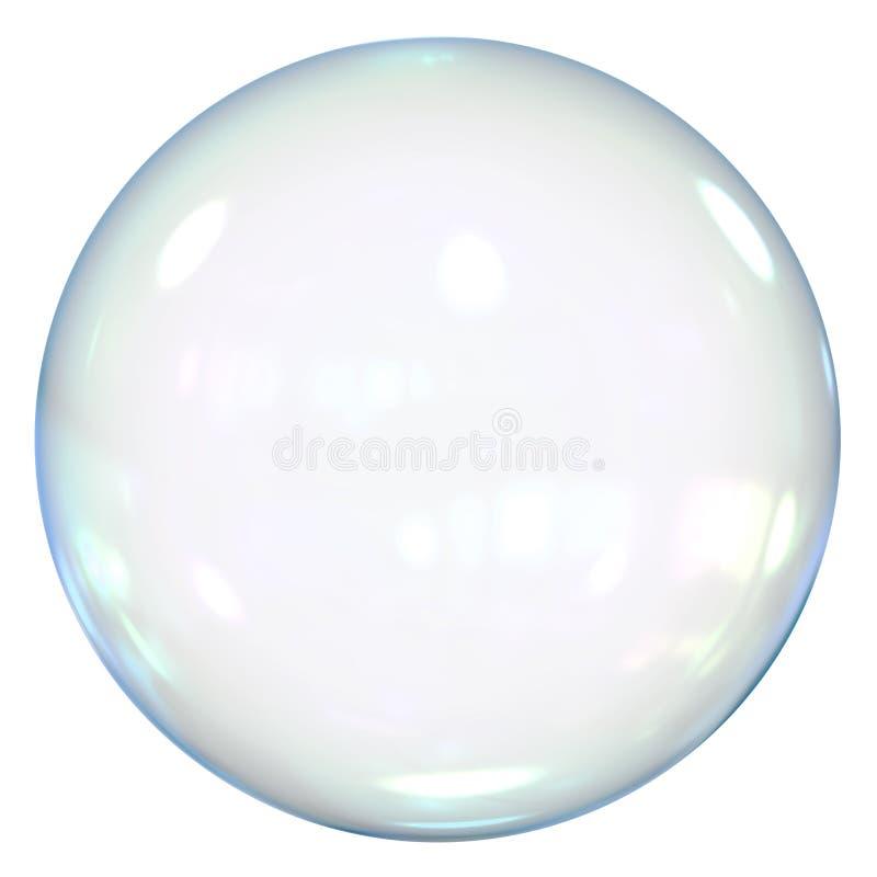 Burbuja de jabón aislada ilustración del vector