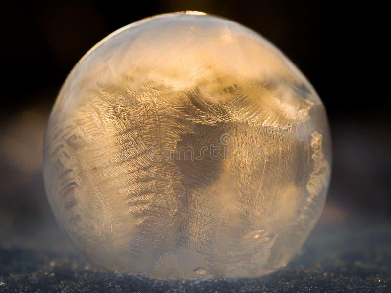 Burbuja de jabón congelada imagenes de archivo