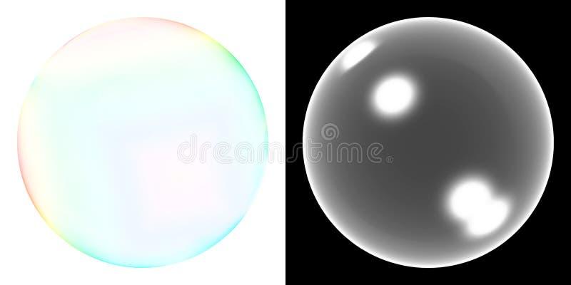 Burbuja de jabón transparente ilustración del vector