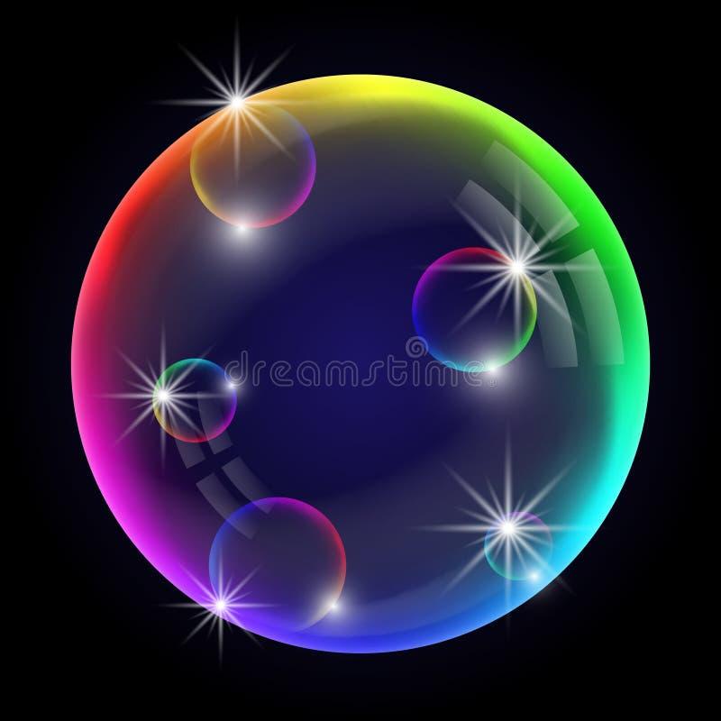 Burbuja de jab?n colorida stock de ilustración