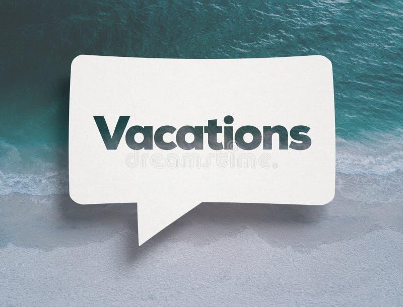 Burbuja de la charla y texto blancos de las vacaciones fotos de archivo libres de regalías