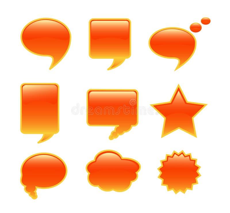 Burbuja de la comunicación ilustración del vector