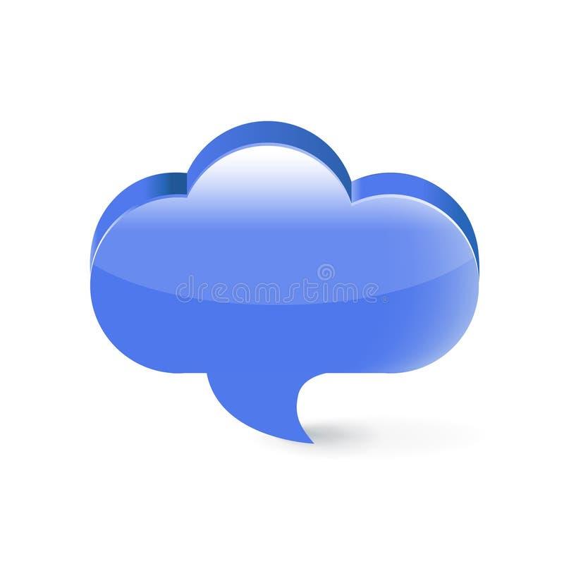 Download Burbuja De La Comunicación De Discurso Aislada En Blanco Ilustración del Vector - Ilustración de discurso, trazado: 42439357