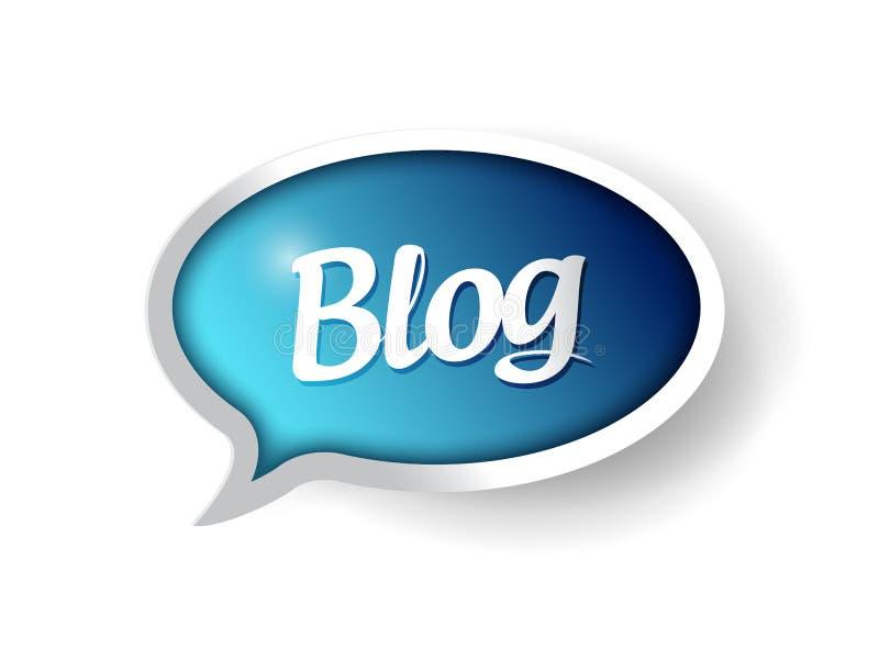 Burbuja de la comunicación del mensaje del blog stock de ilustración