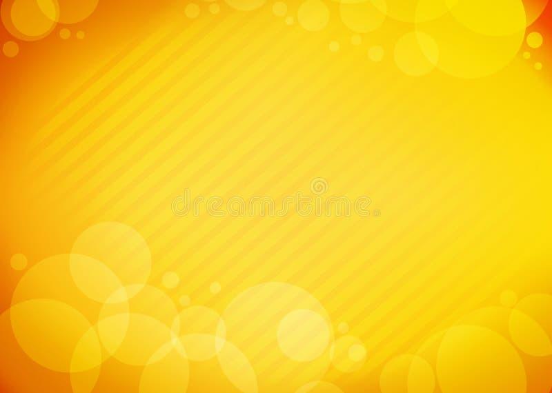 Burbuja de la naranja del fondo libre illustration