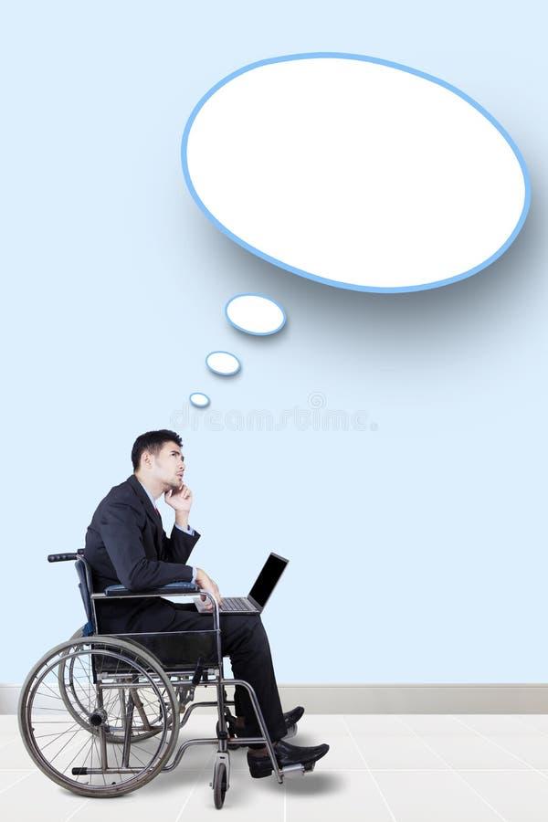 Burbuja de la persona discapacitada y del discurso imágenes de archivo libres de regalías