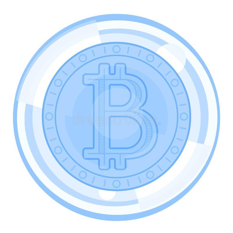 Burbuja de las finanzas de Bitcoin ilustración del vector