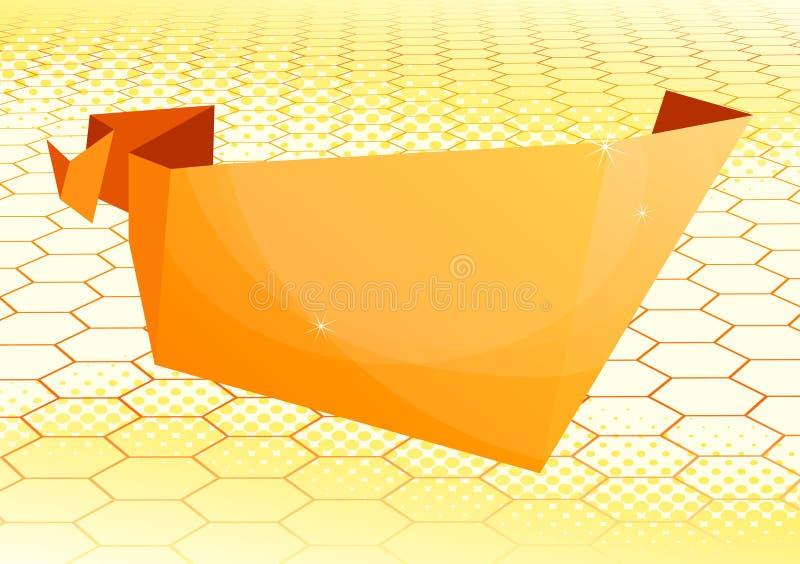 Burbuja de papel del discurso del origami stock de ilustración