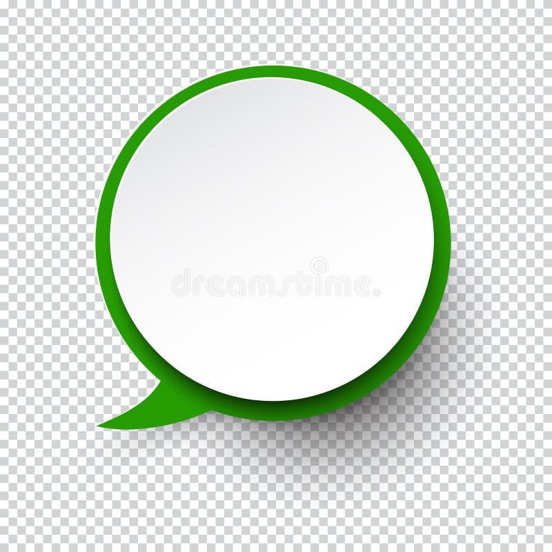 Burbuja de papel redonda blanca del discurso libre illustration