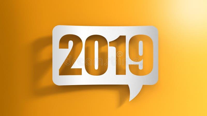Burbuja del discurso con 2019 stock de ilustración