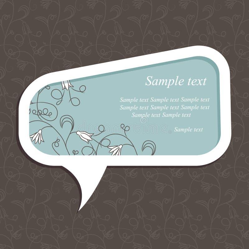 Burbuja del discurso con los elementos florales libre illustration