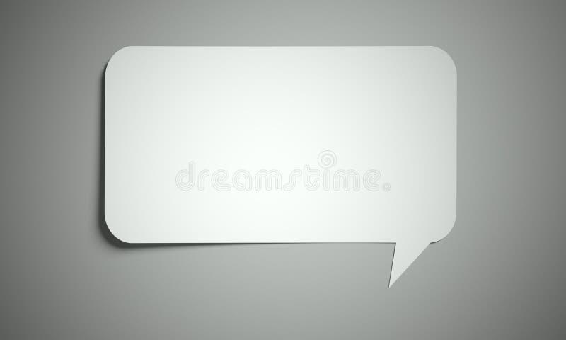 Burbuja del discurso cortada del fondo de papel ilustración del vector