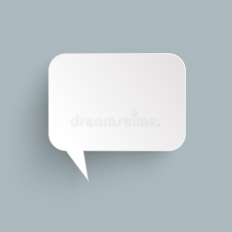 burbuja del discurso de la etiqueta engomada con la sombra ilustración del vector