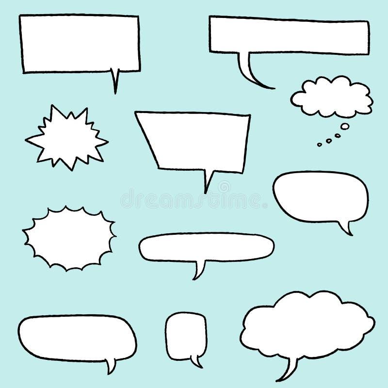 Burbuja del discurso de la historieta libre illustration