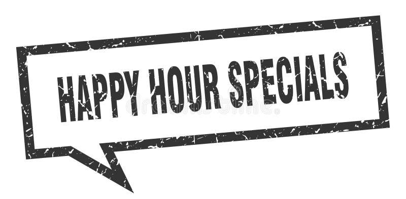 burbuja del discurso de los specials de la hora feliz libre illustration