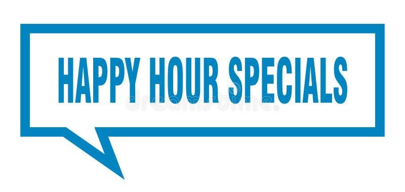 burbuja del discurso de los specials de la hora feliz stock de ilustración