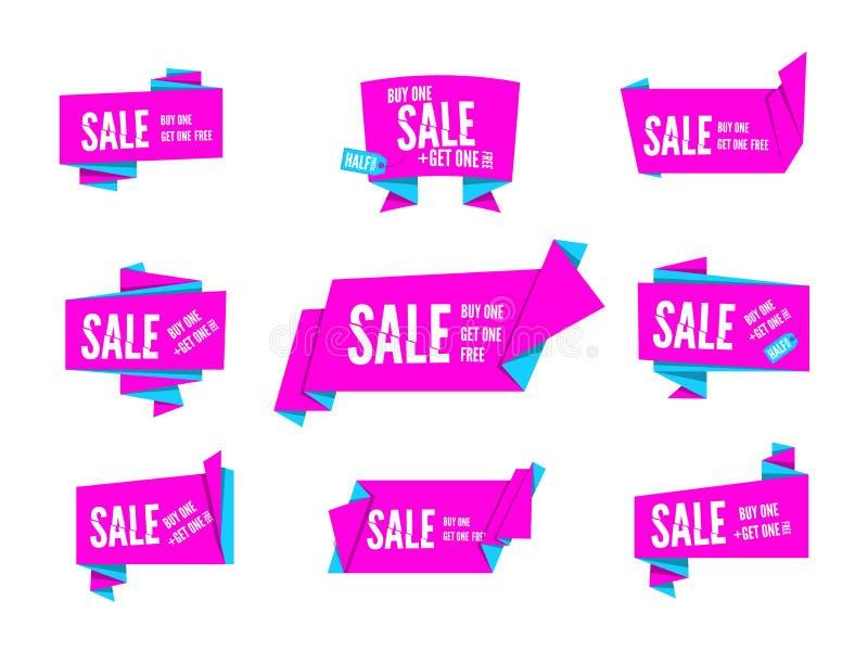 Burbuja del discurso de Origami stock de ilustración