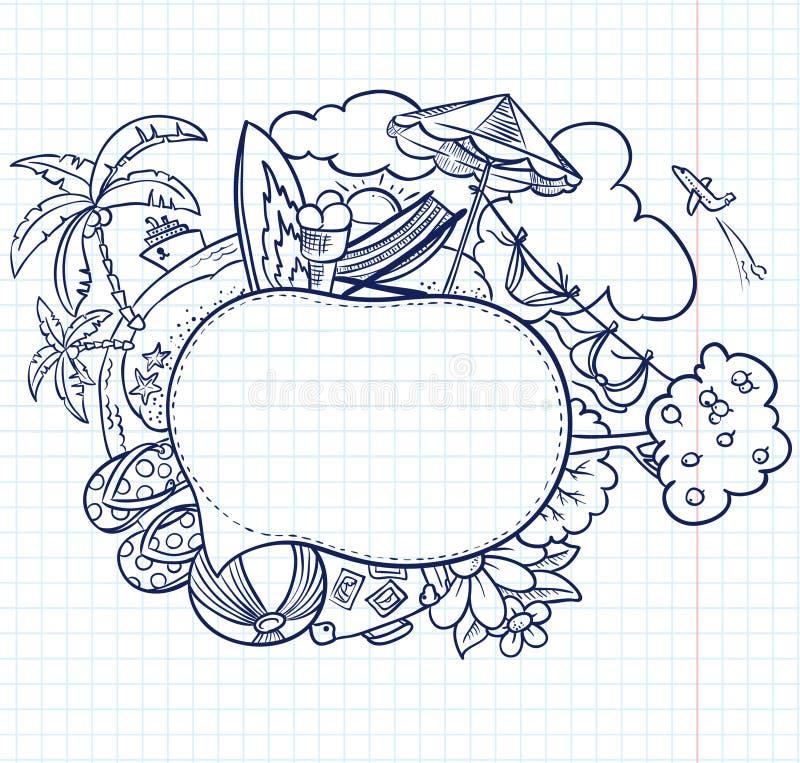 Burbuja del discurso del bosquejo ilustración del vector
