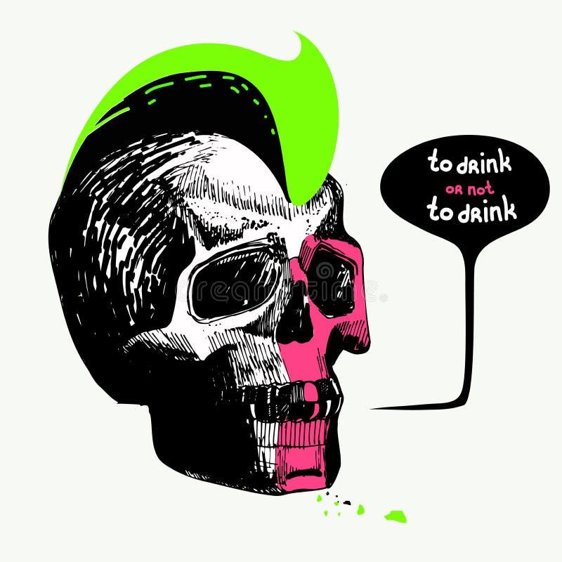 burbuja del discurso del cartel para beber o para no beber el ejemplo del vector aislado en fondo libre illustration