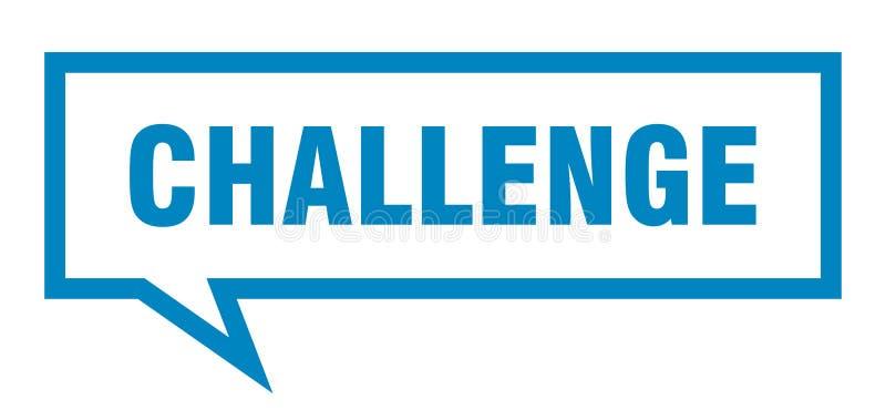 burbuja del discurso del desafío ilustración del vector