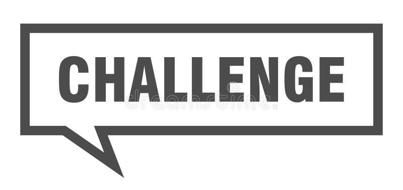 burbuja del discurso del desafío libre illustration
