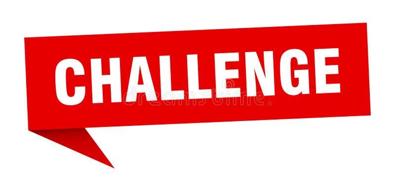 burbuja del discurso del desafío stock de ilustración