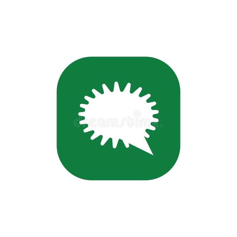 Burbuja del discurso, globo de discurso, icono del vector de la burbuja de la charla para los apps y p?ginas web libre illustration