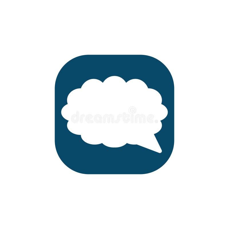 Burbuja del discurso, globo de discurso, icono del vector de la burbuja de la charla para los apps y p?ginas web stock de ilustración