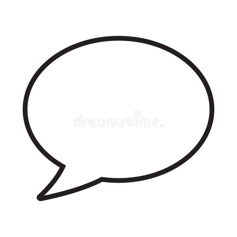 Burbuja del discurso, globo de discurso, línea icono de la burbuja de la charla del vector del arte para los apps y sitios web stock de ilustración