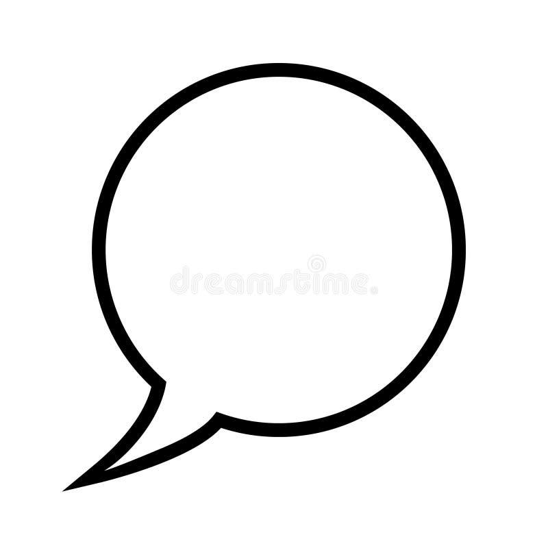 Burbuja del discurso, globo de discurso, línea icono de la burbuja de la charla del vector del arte para los apps y sitios web libre illustration