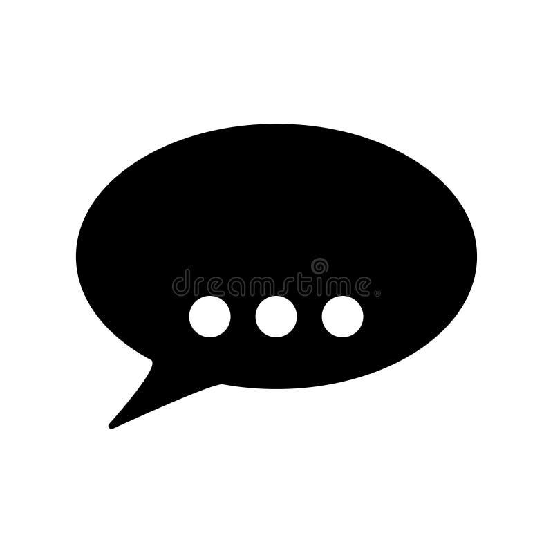 burbuja del discurso para el fondo blanco del icono de la charla ilustración del vector