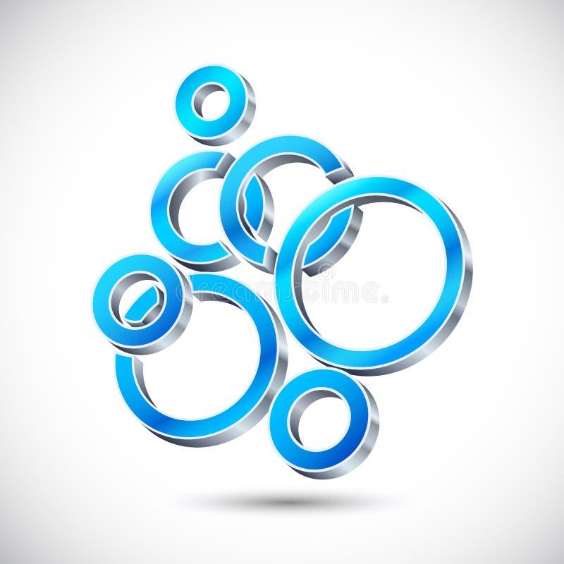 burbuja del diseño de Web 3d ilustración del vector