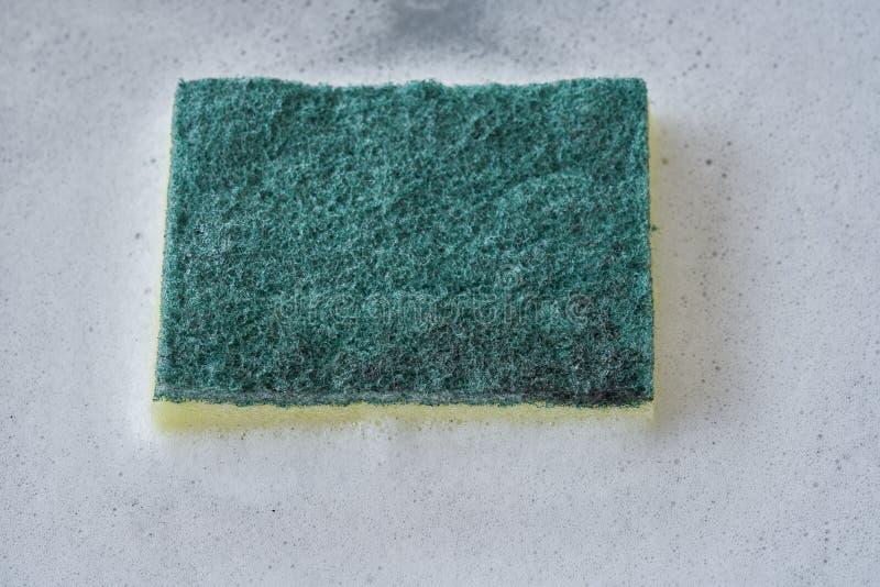 Burbuja del líquido de lavado del plato fotos de archivo libres de regalías