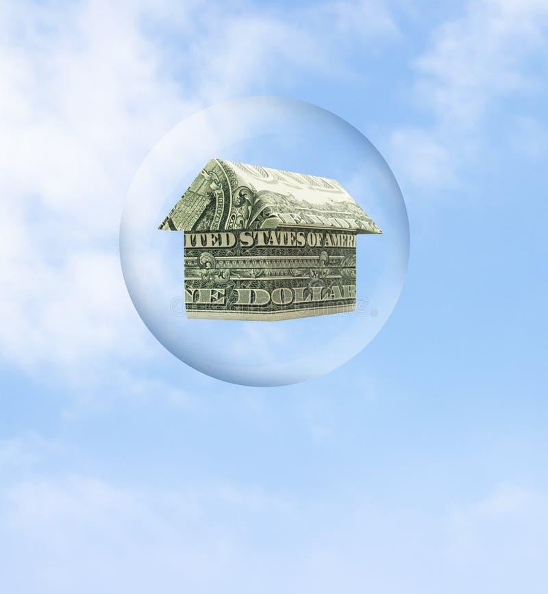 Burbuja del mercado inmobiliario fotografía de archivo