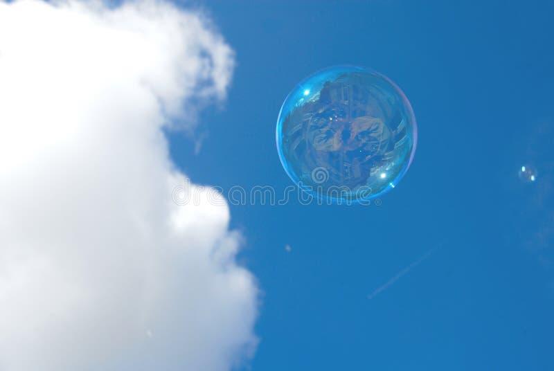 Burbuja del vuelo imagen de archivo libre de regalías