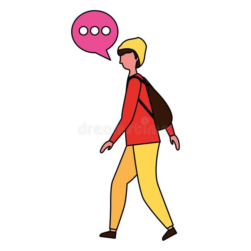 Burbuja el caminar y del discurso del hombre ilustración del vector