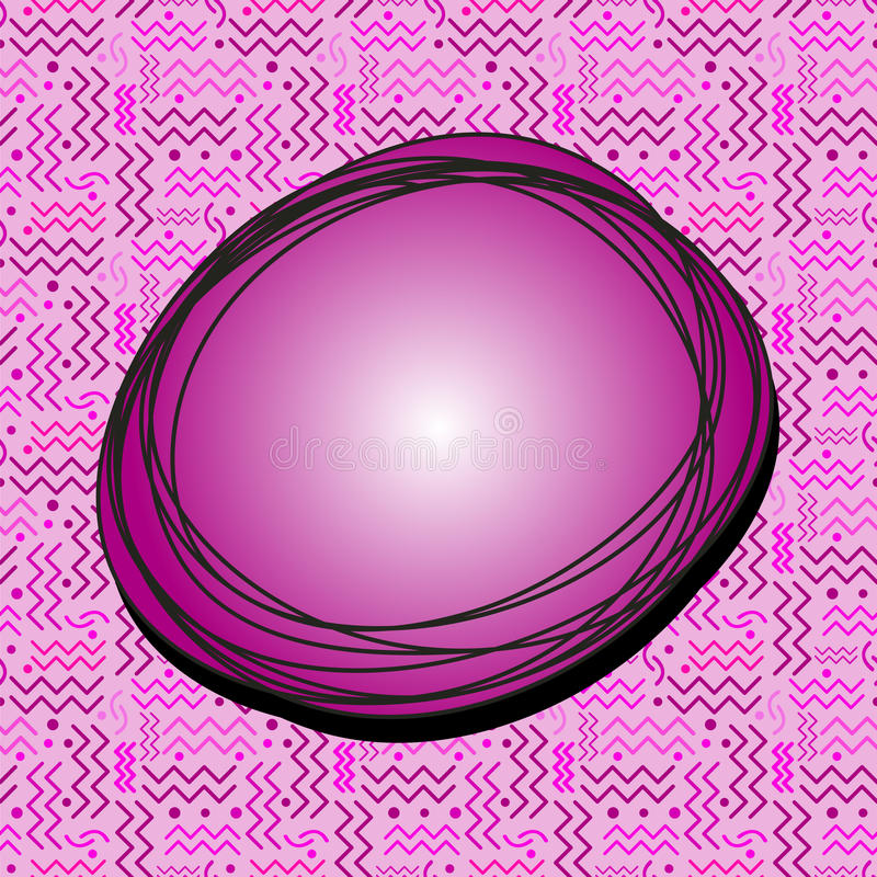 Burbuja enrrollada del discurso de Fuscia libre illustration